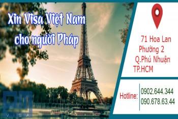 Xin visa Việt Nam cho người quốc tịch Pháp
