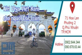 Xin visa Việt Nam cho người quốc tịch Đài Loan