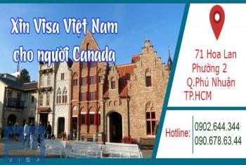 Xin visa Việt Nam cho người quốc tịch Canada